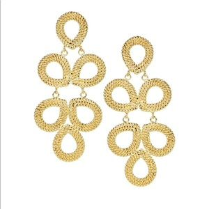 Jewelry - Lisi Lerch Gold Classic Drop Earrings Studded